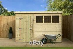 10 x 6 GARDEN SHED SHIPLAP PENT TANALISED WINDOWS PRESSURE TREATED DOOR LEFT