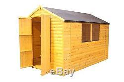 10 x 6 wooden garden shed loglap 12mm windows with double doors