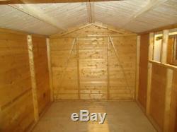 10 x 8 Apex Garden Shed Workshop Storage & Building (3.05m x 2.44m)