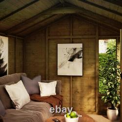 10 x 8 Hobbyist Summerhouse with Long Windows Tongue and Groove Garden Shed
