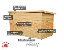 10ft X 5ft Pent Garden Shed Top Quality Wooden Timber