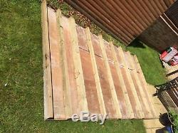 10ft x 6ft Used Garden Shed Mono pitch roof, window with doors on both ends