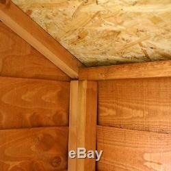 10x10 WOODEN SHED DOUBLE DOORS APEX ROOF WINDOWS GARDEN WORKSHOP BUILDING 10ft
