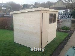 10x4 T&G GARDEN SHED HEAVY 12MM TONGUE AND GROOVE PENT ROOF HUT WOODEN STORE