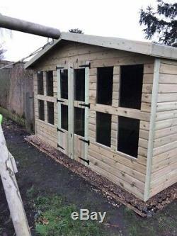 10x6'Lydian' Wooden Garden Room/Shed/Summerhouse Heavy Duty Tanalised Bespoke