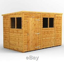 10x6 Power Pent Garden Shed Power Sheds Wooden Super Fast 2-3 Day Delivery