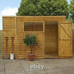 10x6 WOODEN GARDEN SHED SINGLE DOOR PENT WOOD SHEDS STORAGE 10 x 6 New Un Used