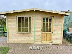 10x6 summer house with bay window garden office shed play house cabin
