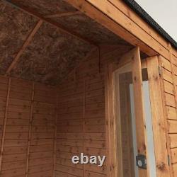 10x8 GARDEN ROOM HOME OFFICE STUDY SUMMERHOUSE BIFOLD DOORS WOOD SHED SHIPLAP