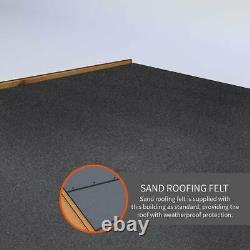 10x8 GARDEN SHED DOUBLE DOOR APEX WINDOW WOODEN PRESSURE TREATED WOOD 10ft 8FT