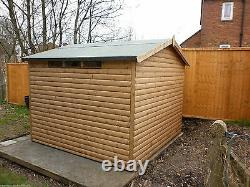 10x8 Loglap security wooden garden storage shed FULLY T&G THROUGHOUT