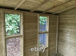 10x8'Lydian' Heavy Duty Wooden Garden Room, Shed, Summerhouse Tanalised Bespoke