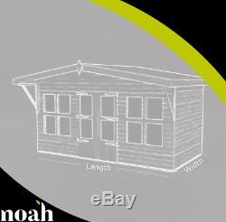 10x8'Lydian Summerhouse' Heavy Duty Wooden Garden Shed/Summerhouse