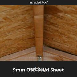 10x8 Overlap Garden Wooden Shed Windowless Double Door Apex Roof & Felt 10FT 8FT