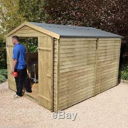10x8 Pressure Treated Wooden Garden Shed New Un Used 10ft X 8ft