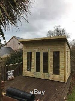 10x8'Roseberry' Wooden Garden Studio/Summerhouse/Shed Heavy Duty Tanalised