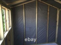 10x8ft WOODEN SUMMERHOUSE GARDEN SHED TREATED TONGUE & GROOVE PENT