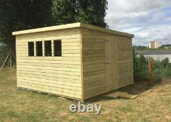 10x8ft Wooden Shed Roof Garden With Secure Tongue & Groove Pent 13mm Shed House
