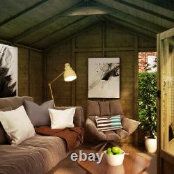 12 x 8 Hobbyist Summerhouse with Long Windows Tongue and Groove Garden Shed