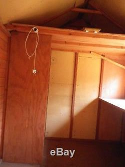 12 x 8 Wooden Garden Shed workshop 9ft in height, Dismantled