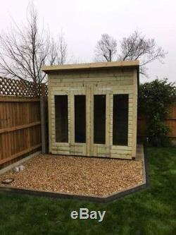 12x10'Don Morris Summerhouse' Heavy Duty Wooden Garden Shed/Summerhouse