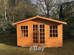 12x10 GEORGIAN SUMMER HOUSE, WOODEN SHED/GARDEN BUILDING. FREE FITTING