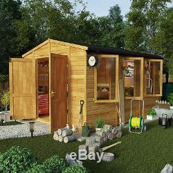 12x10 Garden Shed Premium Heavy Duty Tu0026G Shiplap Workshop Apex Roof Double  Doors