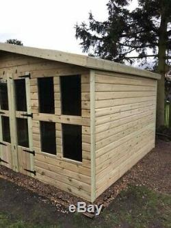 12x10 Garden Shed, Tanalised, Shed, Summerhouse, Free Install, Georgian