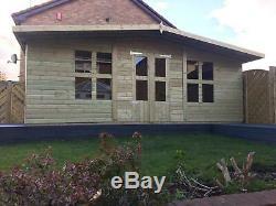 12x10'Lydian' Garden Room Heavy Duty Tanalised Wooden Garden Shed/Summerhouse