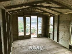 12x10'Oswald Summerhouse' Heavy Duty Tanalised Wooden Bespoke Garden Room, Shed