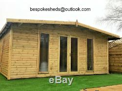 12x6 Apex Contemporary Summer house Heavy Duty Garden Office Shed T&G Tanalised