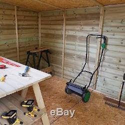 Garden Sheds 12x6 pressure treated wooden garden storage shed pent roof double door