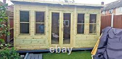 12x6 SUMMER HOUSE GARDEN OFFICE SHED CONTEMPORARY CABIN WORKSHOP HEAVY DUTY T&G