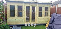 12x6 SUMMER HOUSE GARDEN OFFICE SHED WORKSHOP LOG CABIN WORKSHOP HEAVY DUTY T&G