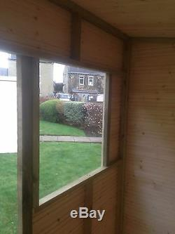 12x6 T&G GARDEN SHED HEAVY 14MM TONGUE AND GROOVE PENT ROOF HUT WOODEN STORE