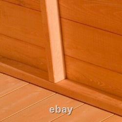 12x6 Wooden Modular Tongue & Groove Pent Garden Shed Single Door