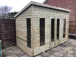 12x8'Don Morris' Wooden Garden Room, Summerhouse, Studio, Shed Heavy Duty