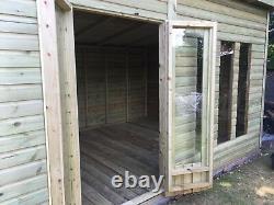 12x8'Statesman Mancave' Heavy Duty Wooden Garden Shed/Workshop/Summerhouse