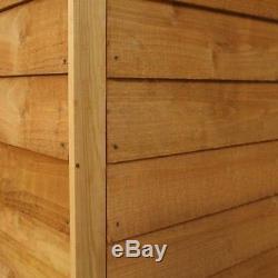 12x8 WOODEN GARDEN SHED APEX ROOF FELT WINDOW FLOOR DOUBLE DOOR STORAGE 12ft 8ft