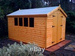 14x8 Or 16x6 Wooden Garden Shed 13mm Tg 2x2 Cls Frame 1 Thick Floor