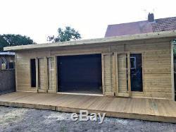 14x10 Bi Folding Doors Summer House Pent Garden Office Shed Summerhouse