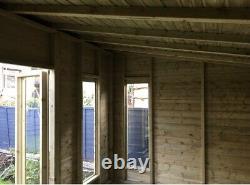 14x10'Don Morris Summerhouse' Heavy Duty Wooden Garden Room Shed Tanalised