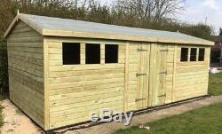14x10'Drummond Workshop' Heavy Duty Wooden Garden Shed/Workshop/Summerhouse