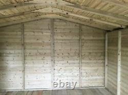 14x10'Lydian Summerhouse' Wooden Garden Room/Shed/Summerhouse Tanalised Bespoke