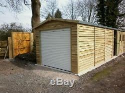 14x12 Heavy Duty Digby Remote Door Wooden Garage Timber Workshop Garden Shed