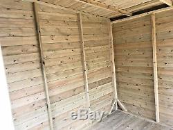14x12 PENT SUMMER HOUSE GARDEN OFFICE SHED LOG CABIN T&G HEAVY DUTY