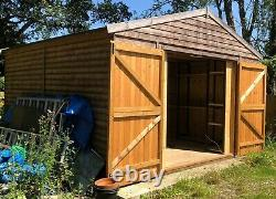 14x14 Large Garden Shed Heavy Duty Pressure Treated Tool Bike Storage building