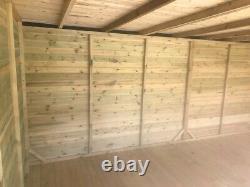 14x6 SUMMER HOUSE LOG CABIN SHED CONTEMPORARY BI FOLDING DOORS GARDEN OFFICE