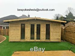 14x8 Apex Summer house Log Cabin Heavy Duty Garden Office Shed 19mm T&G Man Cave