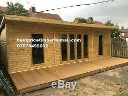 14x8 Bi Folding Doors Summer House Pent Garden Office Shed Summerhouse